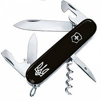 Складной нож - брелок Victorinox SPARTAN UKRAINE чёрный, фото 1