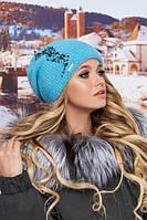 Шикарная женская шапка с декором в 8ми цветах 4707