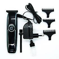 Профессиональная машинка - триммер для стрижки волос Gemei GM-6050 с насадками, фото 2