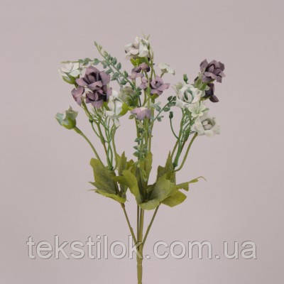 Міні букет Троянд фіолетовий 30 див. штучні Квіти