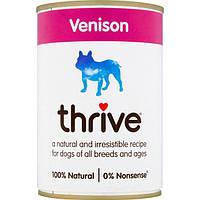 Thrive Dog Complete Venison -Трайв Полнорационный Консервир Влажный корм для Собак Оленина 375г