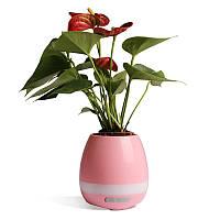 Умный музыкальный цветочный горшок Smart Music Flower Pot Розовый, КОД: 146960