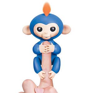 ІНТЕРАКТИВНА FINGERLINGS MONKEY l Іграшка мавпочка l Смішлива мавпочка синя