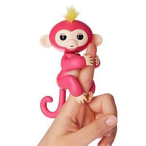ІНТЕРАКТИВНА FINGERLINGS MONKEY l Іграшка мавпочка l Смішлива мавпочка рожева