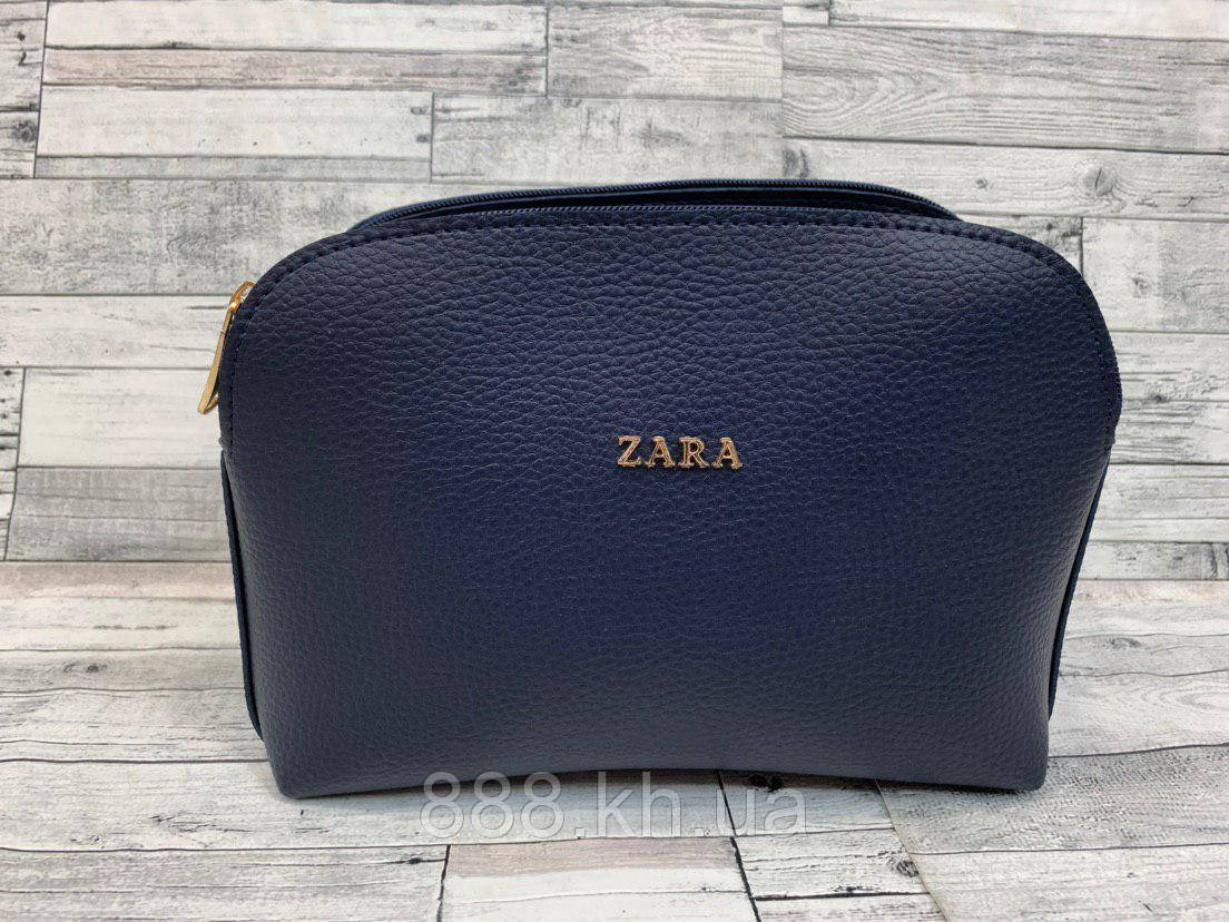 Женский клатч сумка Zara (синий)