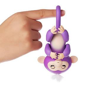 ІНТЕРАКТИВНА FINGERLINGS MONKEY l Іграшка мавпочка l Смішлива мавпочка фіолетова