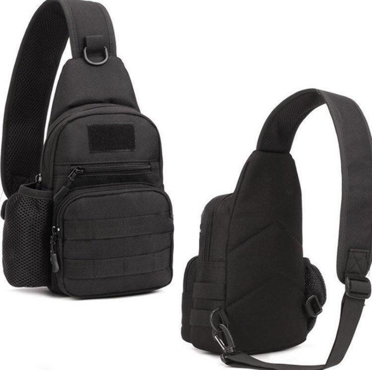 Тактическая, штурмовая, военная, городская сумка ForTactic Черная