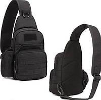Тактическая, штурмовая, военная, городская сумка ForTactic Черная, фото 1