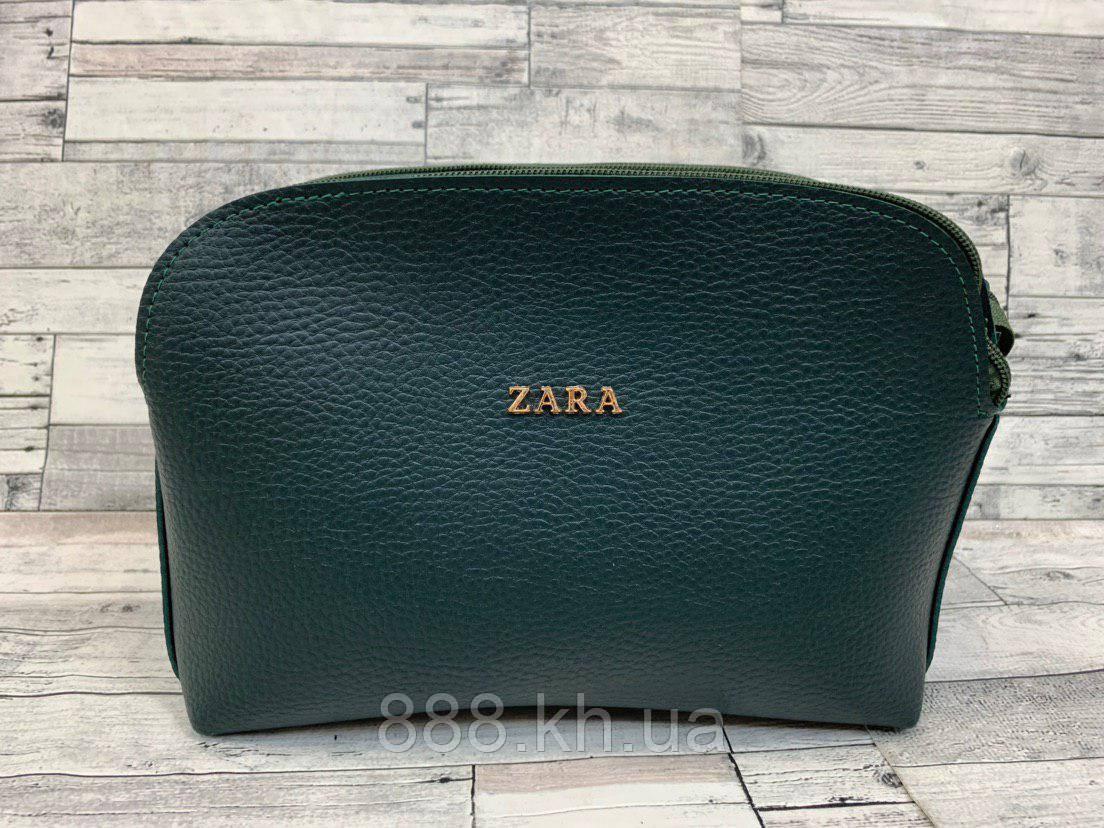 Женский клатч сумка Zara (бутылочный)