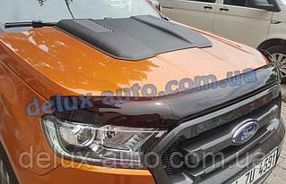 Мухобойка на капот для Ford Ranger 2016-2019 Дефлектор капота на Форд Рейнджер 2016-2019