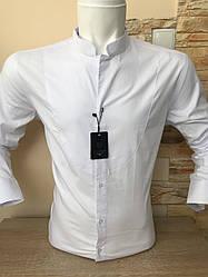 "Однотонная рубашка ""LeMarin fashion""  стойка"