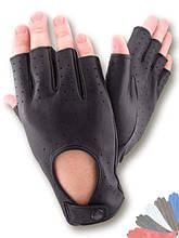 Автомобильные перчатки из натуральной кожи модель 299 без подкладки