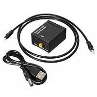 Переходник оптического звукового сигнал на аналоговый RCA Toslink, USB