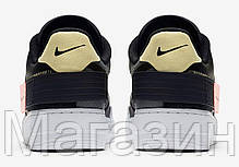 "Женские кроссовки Nike Air Force 1 Low Type N. 354 ""Black"" CI0054-001 (Найк Аир Форс) черные, фото 3"