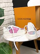 Женские кроссовки Louis Vuitton Sneakers Pink White (кеды Луи Витон) белые, фото 2