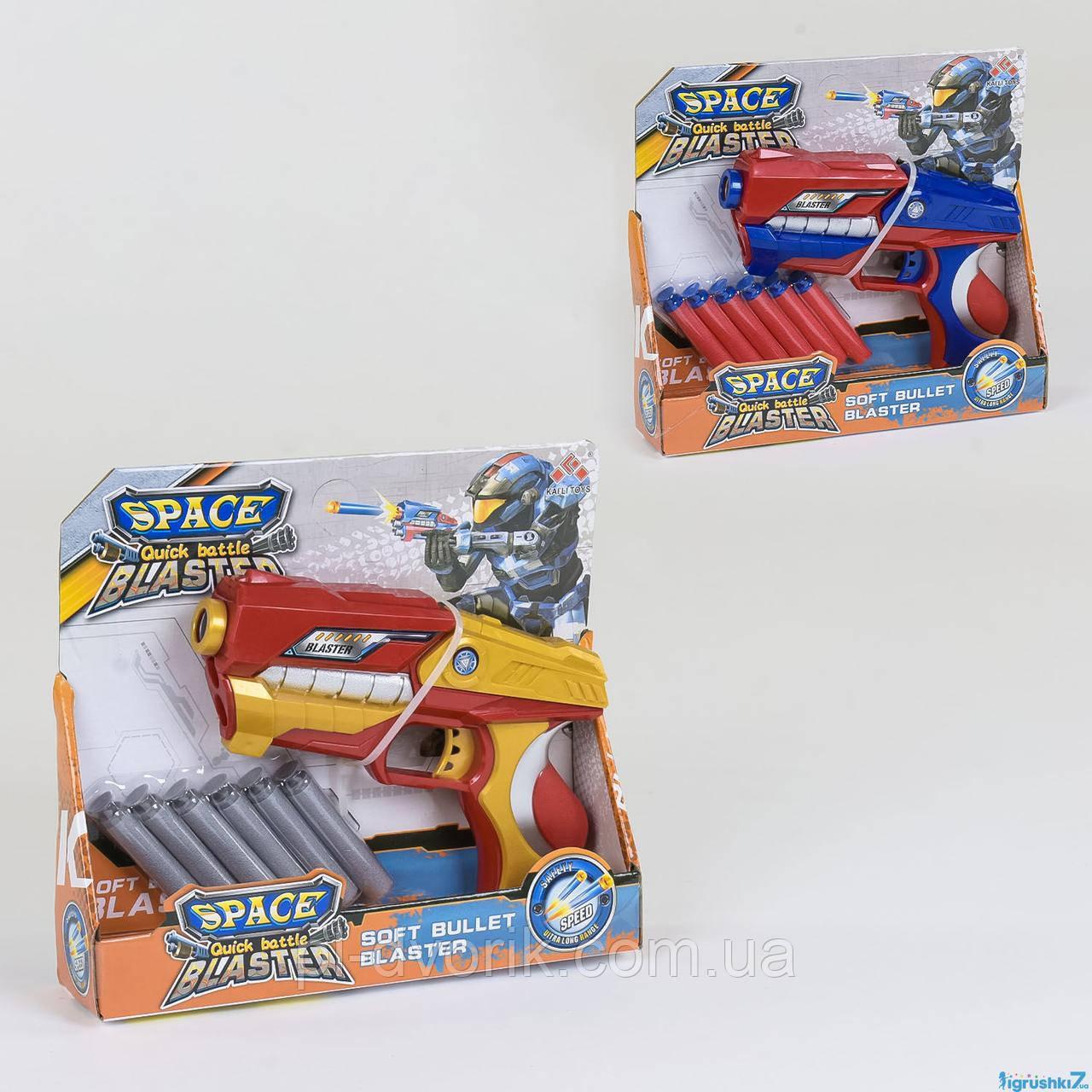 Пистолет с мягкими патронами SB 435 (72) 2 вида, в коробке Размер упаковки: 24 х 6 х 22 см Упаковка: Картонны