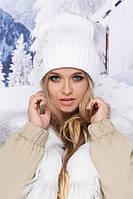 Модная женская шапка-колпак с декором в 8ми цветах 5015