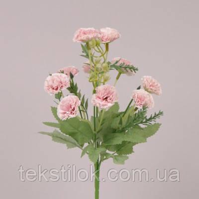 Букетик Гвоздик розовый 30 см.  Цветы искусственные