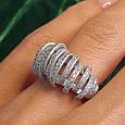 Серебряное родированное кольцо - Брендовое кольцо из серебра, фото 9