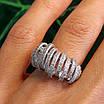 Серебряное родированное кольцо - Брендовое кольцо из серебра, фото 3