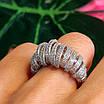 Серебряное родированное кольцо - Брендовое кольцо из серебра, фото 2