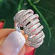 Серебряное родированное кольцо - Брендовое кольцо из серебра, фото 5