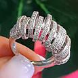 Серебряное родированное кольцо - Брендовое кольцо из серебра, фото 4
