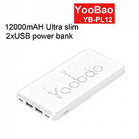 Power Bank original Yoobao 12000 mAh - PL12 Lithium Polymer павер банк зарядное устройство повербанка
