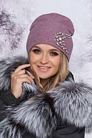 Красивая женская шапка-колпак с декором в 9ти цветах 4907