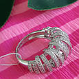 Серебряное родированное кольцо - Брендовое кольцо из серебра, фото 8