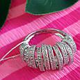 Серебряное родированное кольцо - Брендовое кольцо из серебра, фото 6