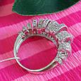 Серебряное родированное кольцо - Брендовое кольцо из серебра, фото 7