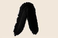 Опушка из песца двойная (70 см) черная