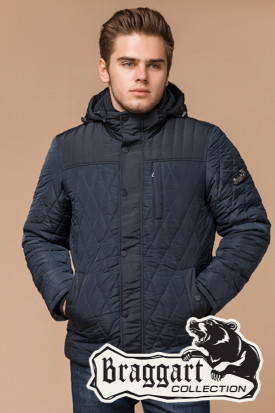 Синяя мужская зимняя куртка (р. 46-54) арт. 30538H, фото 2