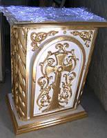 Жертвенник для храма с золочением и резьбой