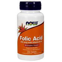 Now Foods  Фолиевая кислота с витамином B12  800 мкг  (250tab)