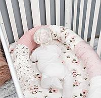 """Подушка многофункциональная для сна и кормления, для беременных и бортики для деток """"Анемоны"""""""