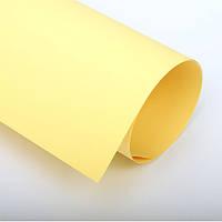 Бумага цветная 70х100 см, 120 г/м2, Spectra color №160, желтый пастель
