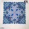 Белый павлопосадский шерстяной платок Лилия, фото 4