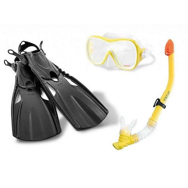Набор для плавания Трубка, маска и ласты Intex 55658, от 8 лет