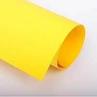 Бумага цветная 70х100 см, 120 г/м2, Spectra color №210, лимон интенсив