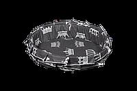 Лежак (лежанка) для домашних животных (с рюшей) Мур-Мяу №2 Серый