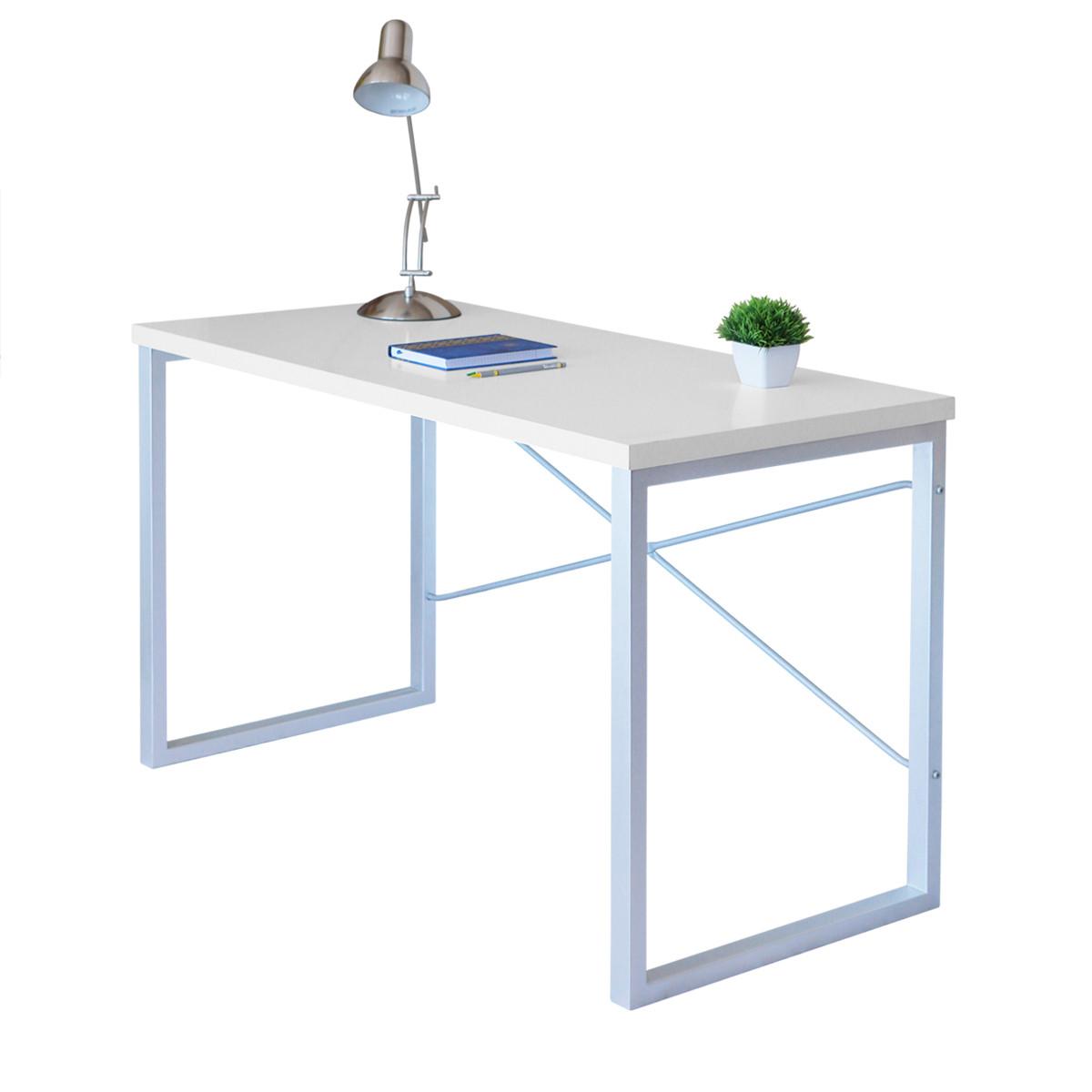 """Письменный стол """"Интеграл Серебро"""" 755x1200x600"""