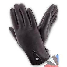 Женские перчатки из натуральной кожи модель 213 на подкладке из натурального меха
