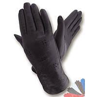 Женские перчатки из натуральной кожи модель 008 на шерстяной подкладке