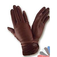 Женские перчатки из натуральной кожи модель 127 на шерстяной подкладке
