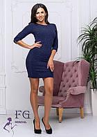 Короткое платье в рубчик  0206/03, фото 1