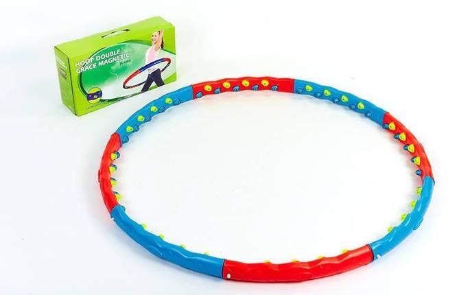 Обруч массажный Hula Hoop JS-6003 Double Grace Magnet, фото 2