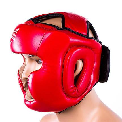 Боксерський шолом закритий Everlast кожзам Червоний, фото 2