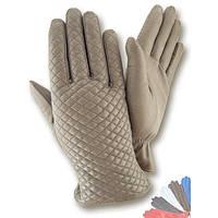 Женские перчатки из натуральной кожи модель 468 на шерстяной подкладке